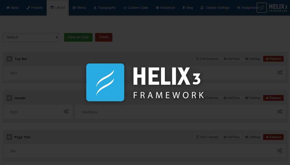 A detailed guide to the Helix3 Layout Manager