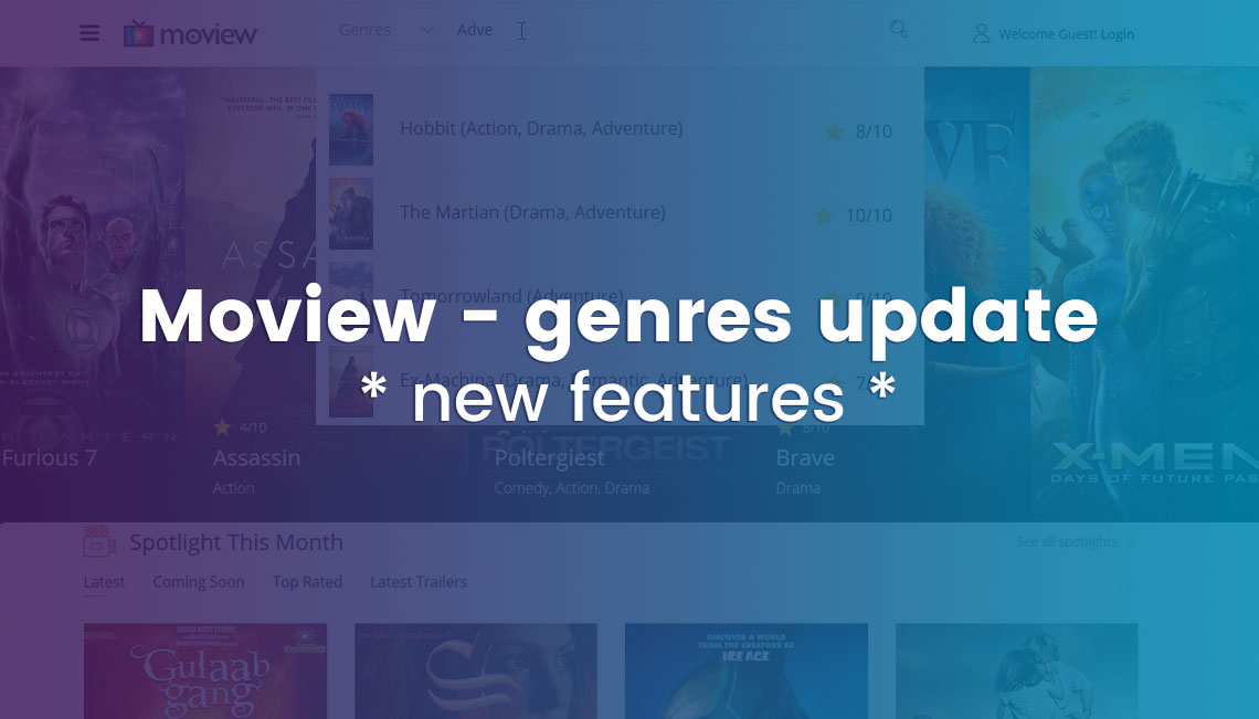 Moview template & SP Movie Database update