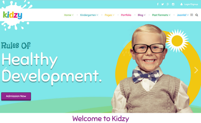 Kidzy template demo