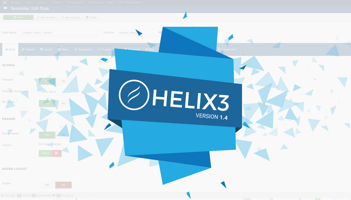 Helix3 v1.4 - improvements and new features