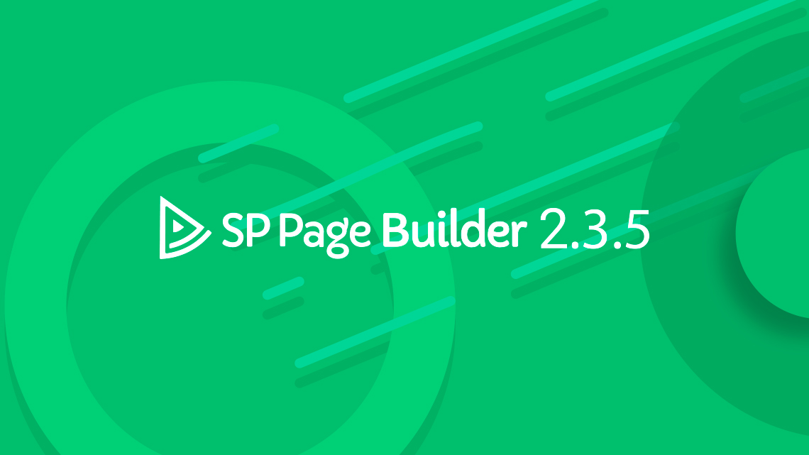 SP Page Builder Pro Version 2.3.5 Arrived!!! New Addons and Lots of Improvements