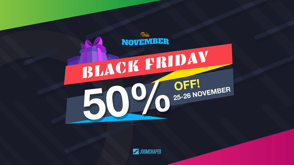 Huge 50% Black Friday discount valid for 48 hours only!