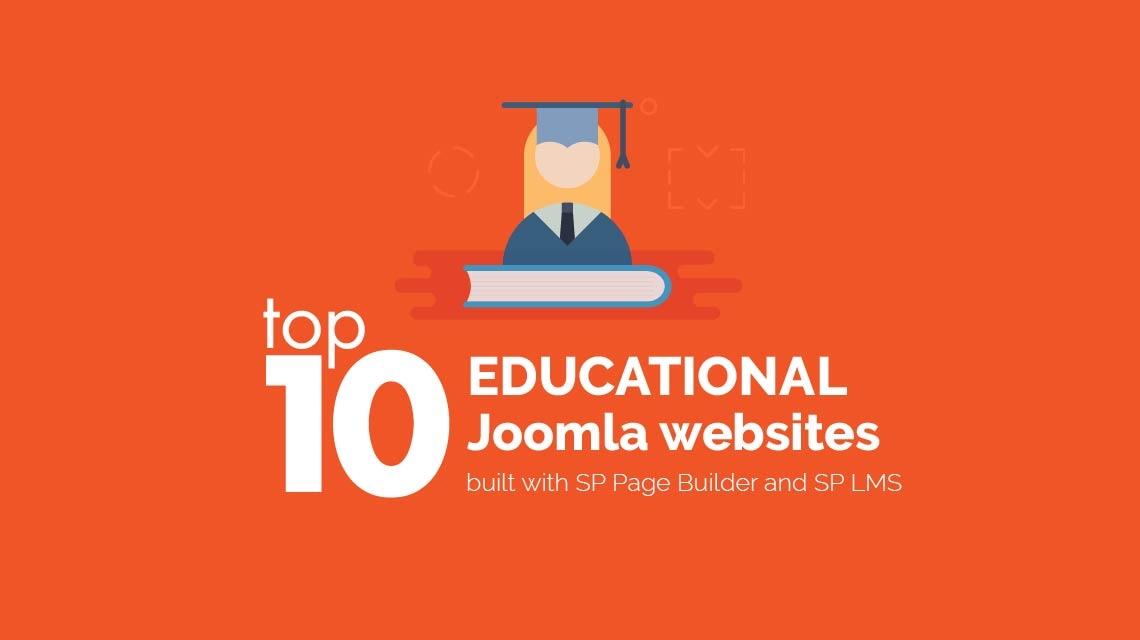 Top educational websites built with Joomla page builder