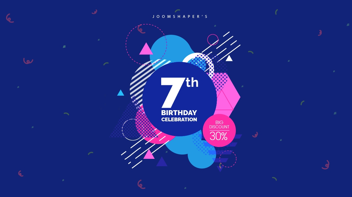 Enjoy big 30% discount in JoomShaper's 7th birthday celebration!