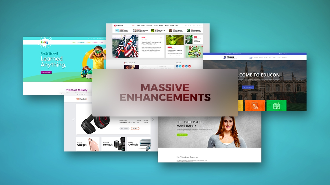 Update: 5 of our templates get massive enhancements and latest components