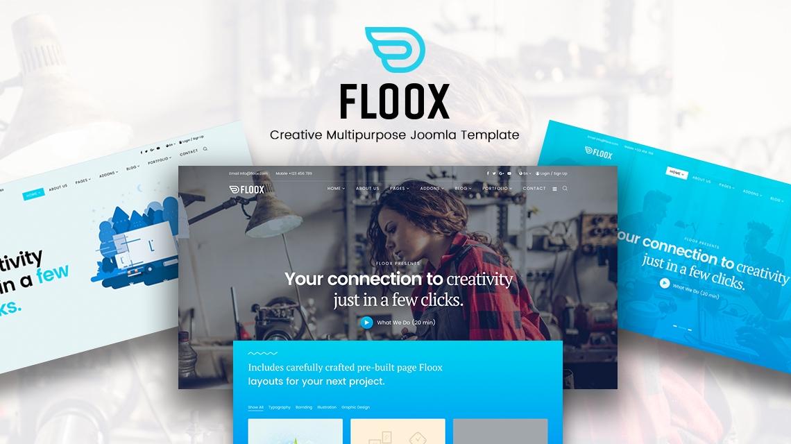 Introducing Floox: The August 2017 Joomla template