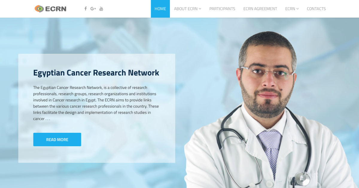 Website of Egyptian Cancer Research Network