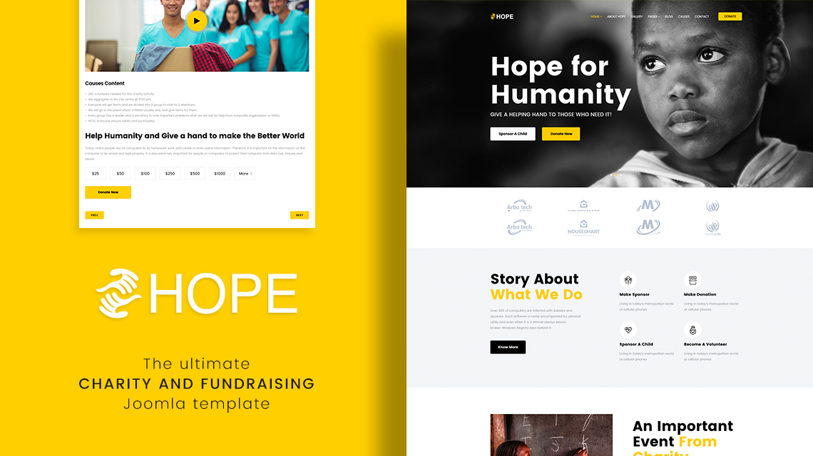 Introducing Hope: The October 2017 Joomla template