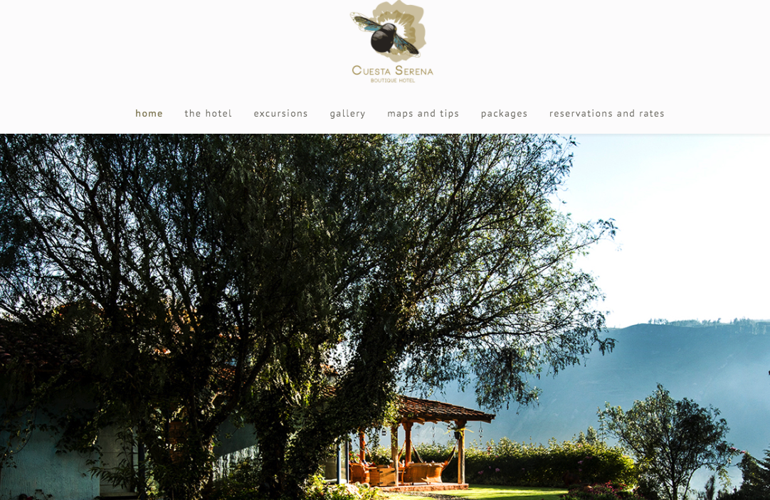 Cuesta Serena developed their website with SP Page Builder