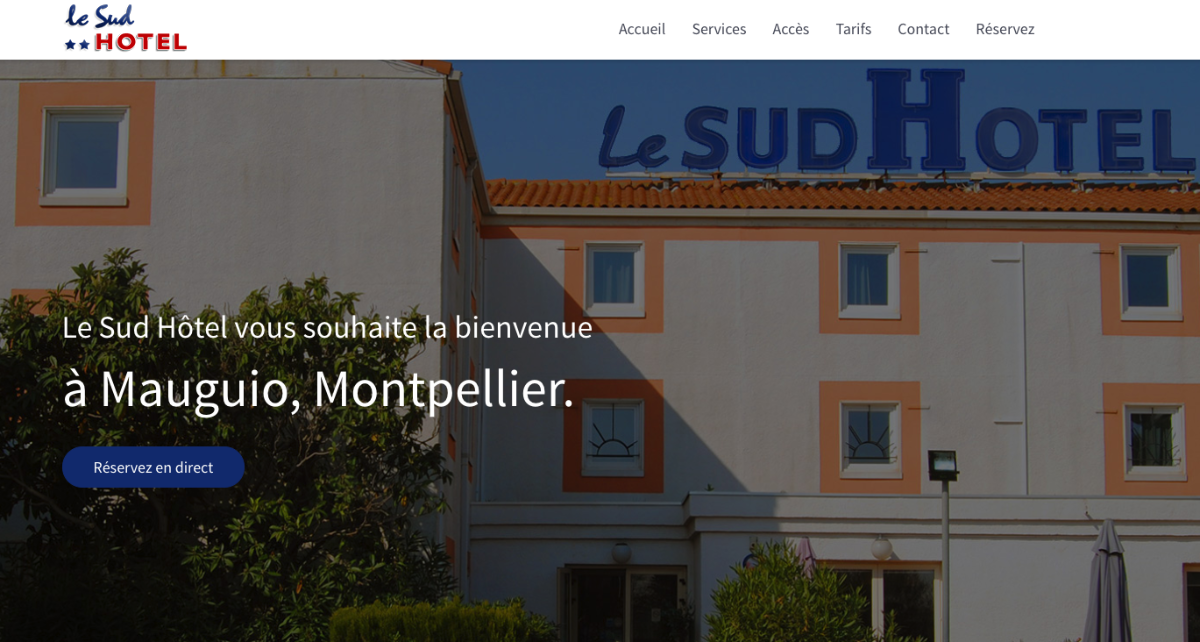 LaSud Hotel Montpellier developed their website with SP Page Builder