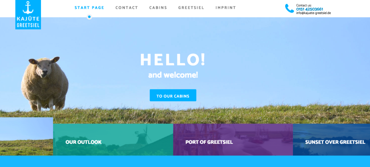 Kajuete Greetsiel Hotel developed their website with SP Page Builder