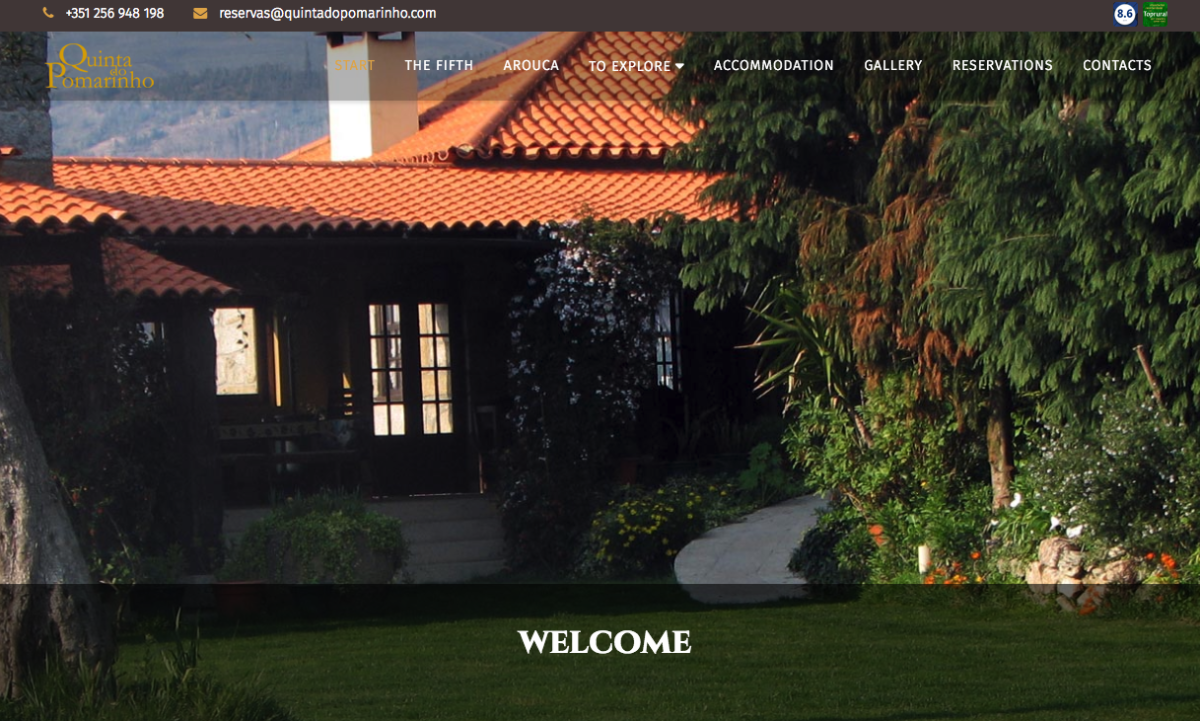 Quinta Do Pomarinho developed their website with SP Page Builder