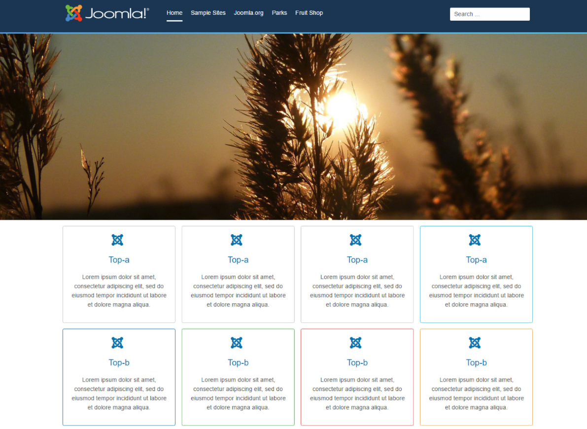 Aurora, the Joomla 4 frontend template