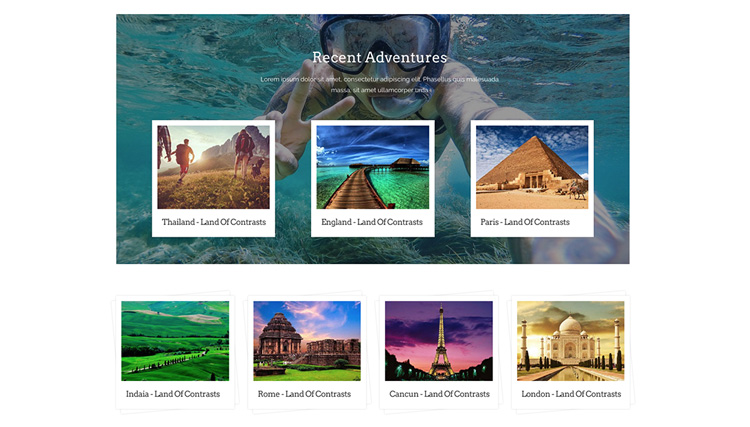 Travelia offers an amazing photo gallery with diverse features.