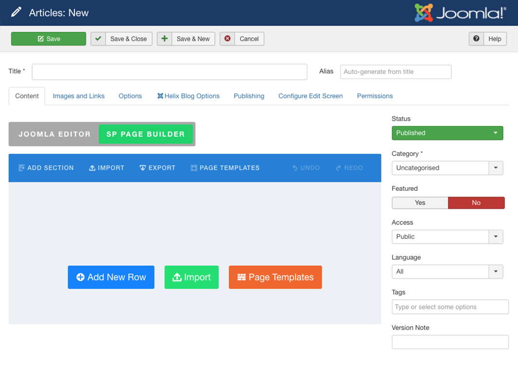 Joomla Articles Integration