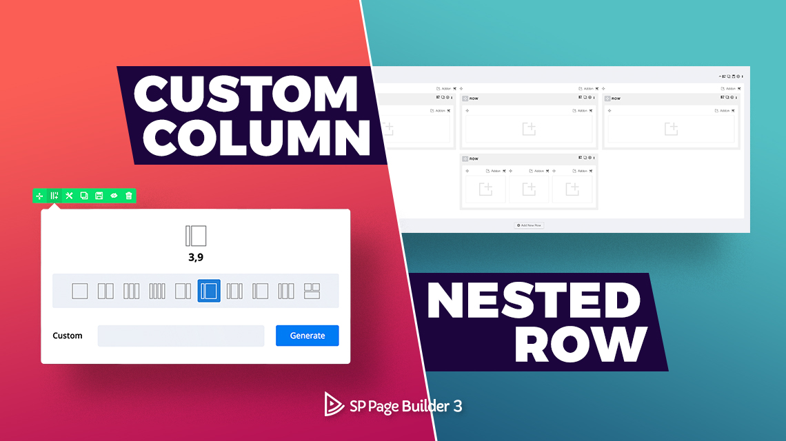 Creating a custom layout with nested rows in SP Page Builder
