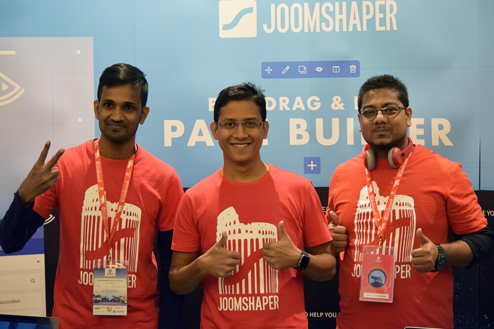 JoomShaper team mebers at Joomla World Conference 2017