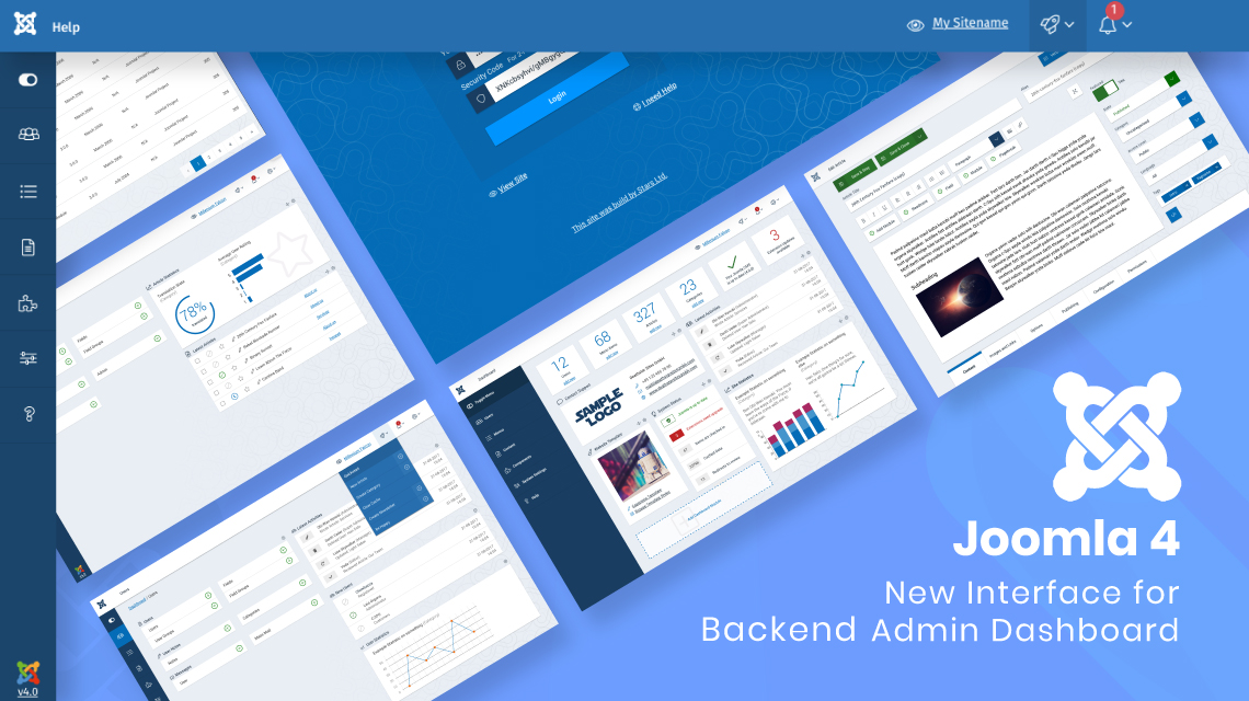 Joomla 4 backend admin dashboard UI revealed!
