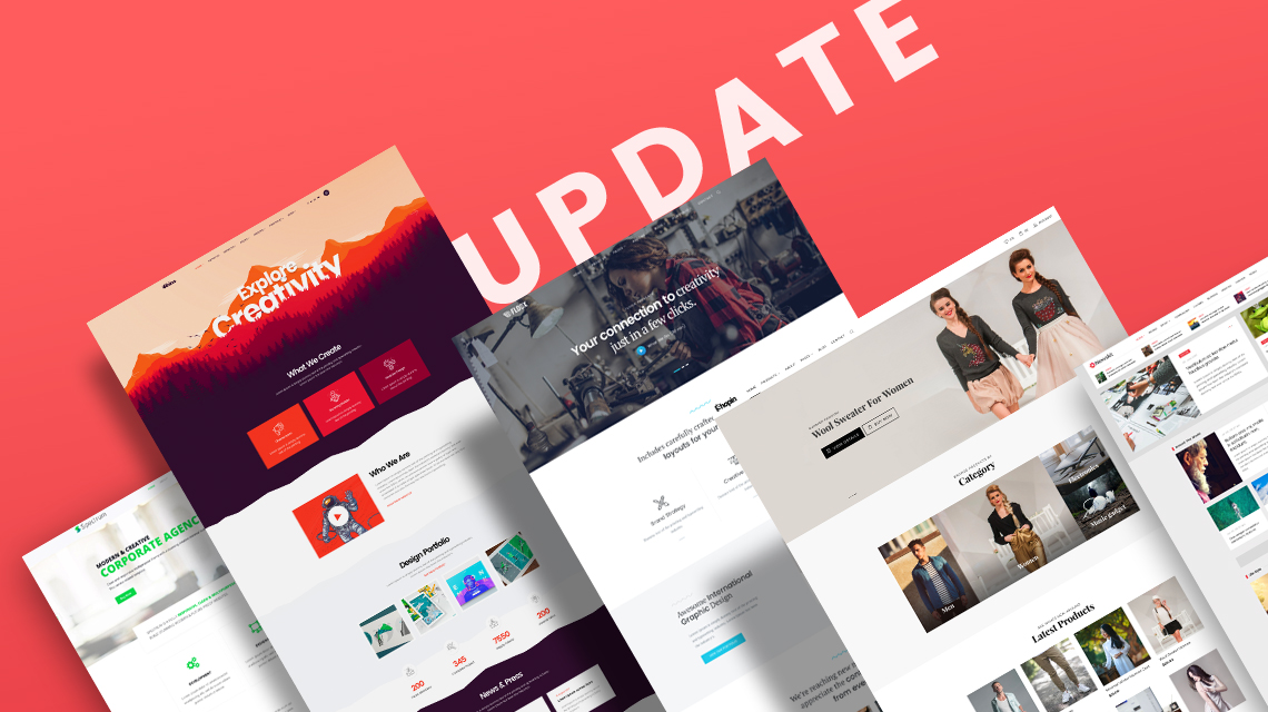 13 Joomla templates receive latest updates and improvements
