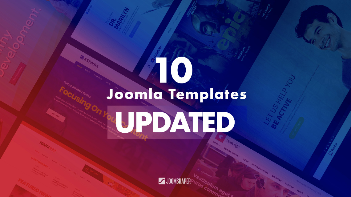 10 Joomla templates updated with latest technologies