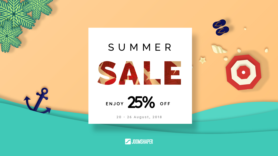 [Expired] 25% Summer discount on all JoomShaper products!