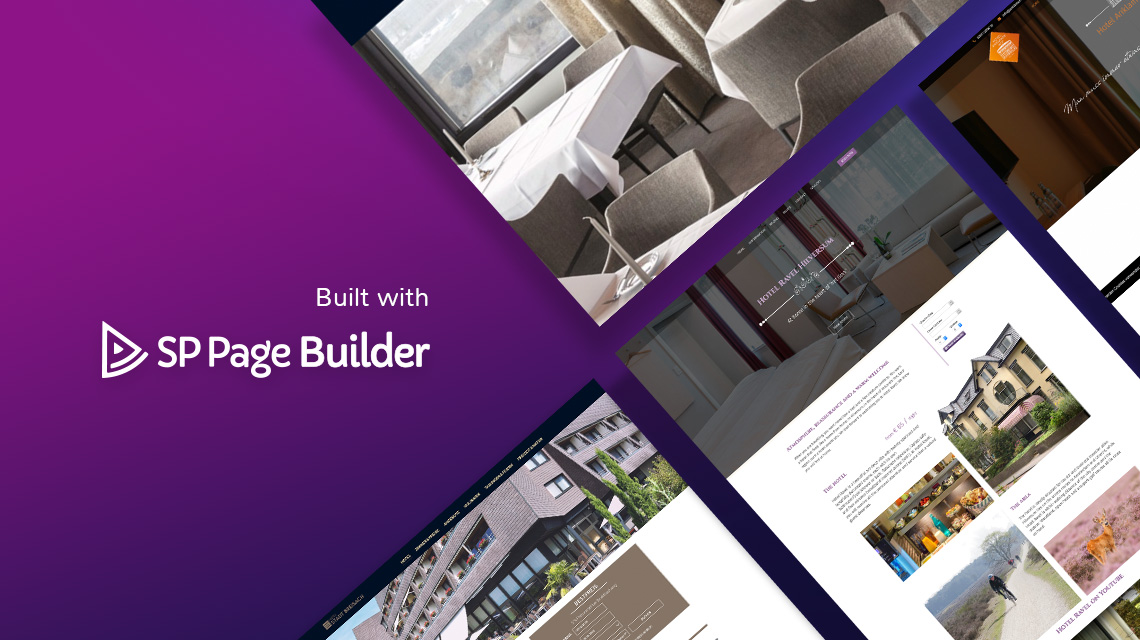 Stunning hotel websites built with SP Page Builder