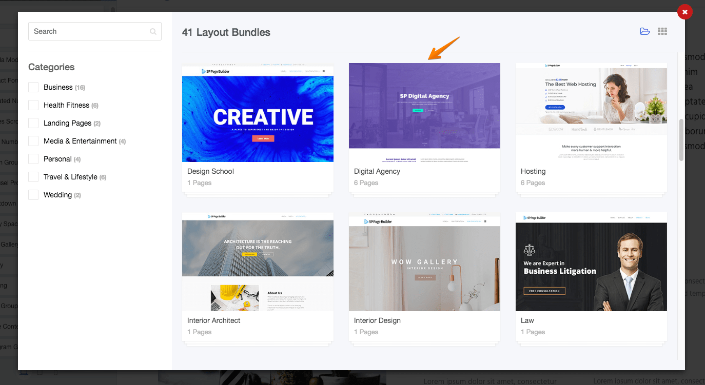 Introducing Digital Agency layout bundle for SP Page Builder Pro