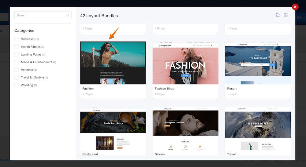 Introducing Fashion layout bundle in SP Page Builder 3.3.3 Pro update