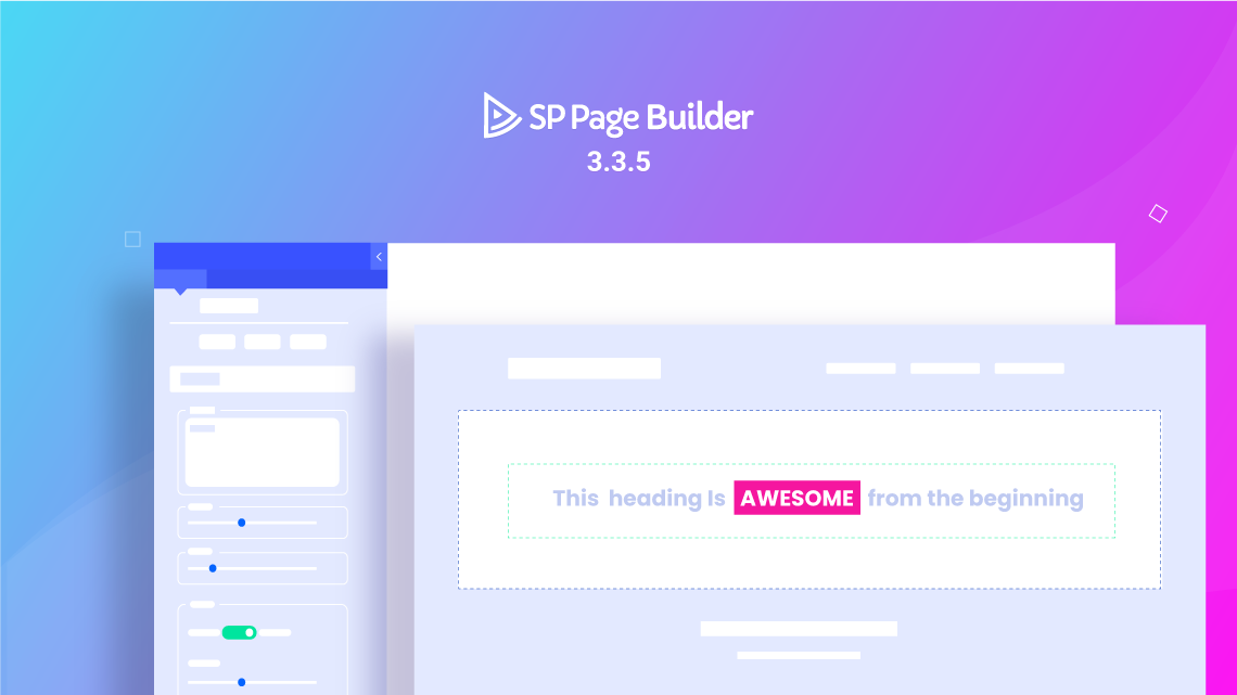 Brand new Animated Heading addon and 22 blocks arrive with SP Page Builder 3.3.5 Pro