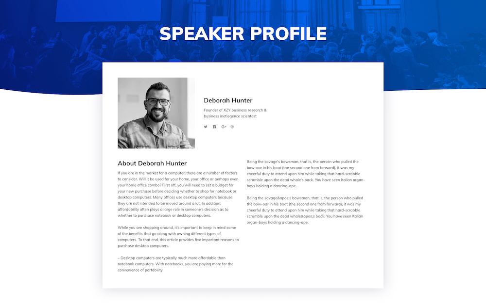 Presenting Conference layout bundle for SP Page Builder Pro