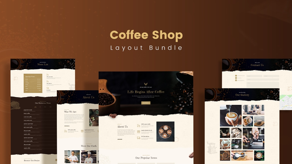 Meet Coffee Shop, an energetic layout bundle for SP Page Builder Pro