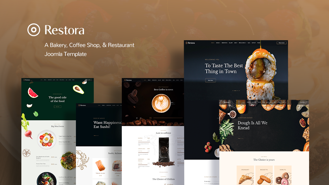 Introducing Restora: All-in-one restaurant, bakery, and coffee shop Joomla template