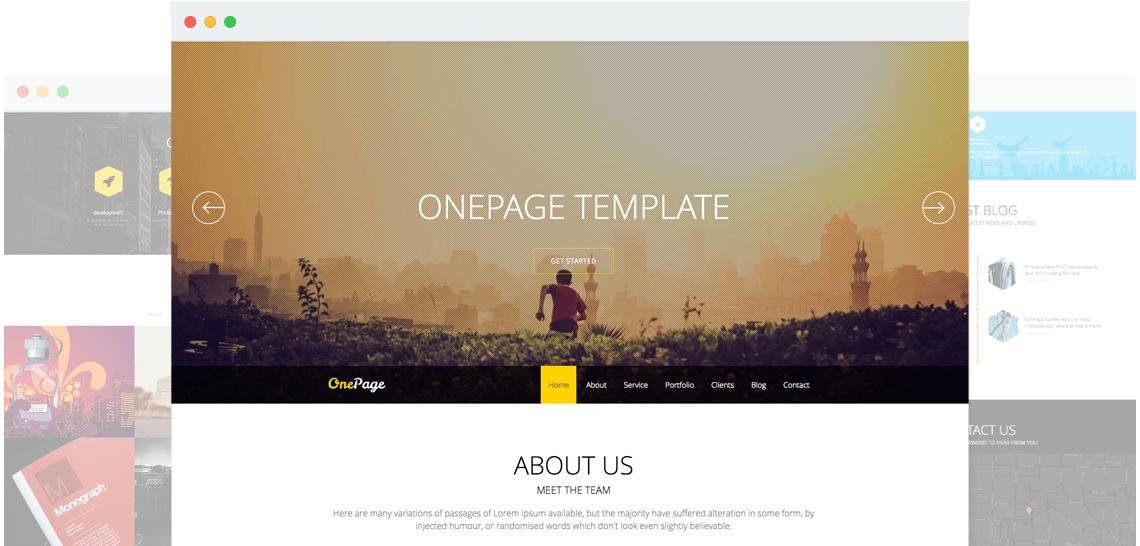 Onepage Responsive Joomla Onepage Template Joomshaper