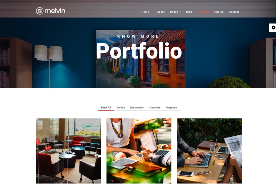 Melvin Premium Multipurpose Joomla Template For Business Corporate Sites Joomshaper