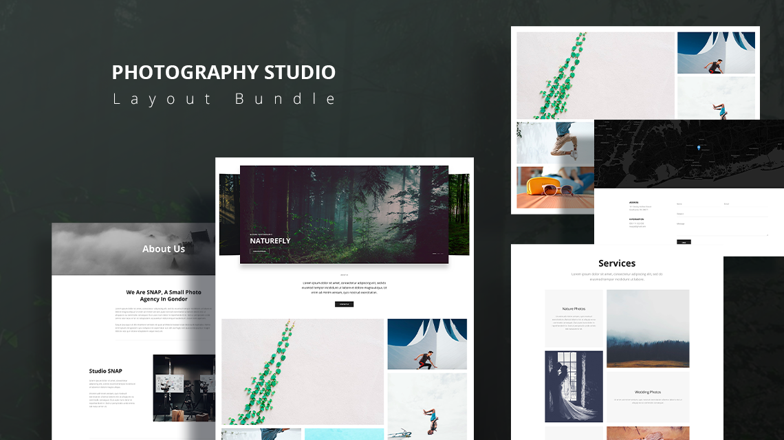Photography Studio: A creative layout bundle for photography professionals & agencies