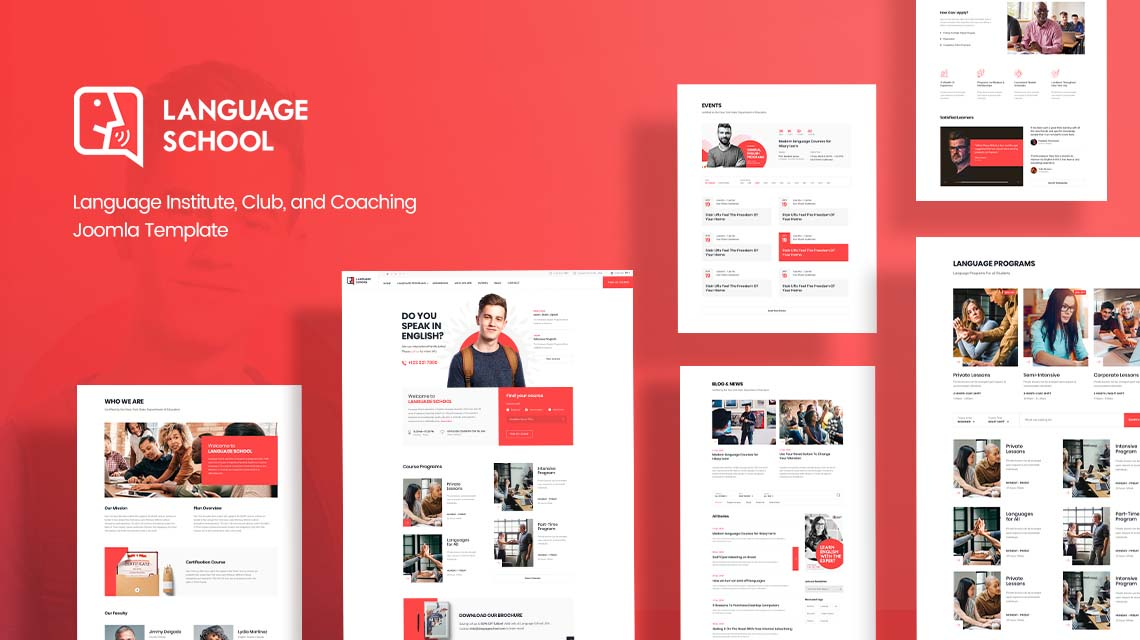 Introducing Language School: Joomla template for language institutes & coaching centers