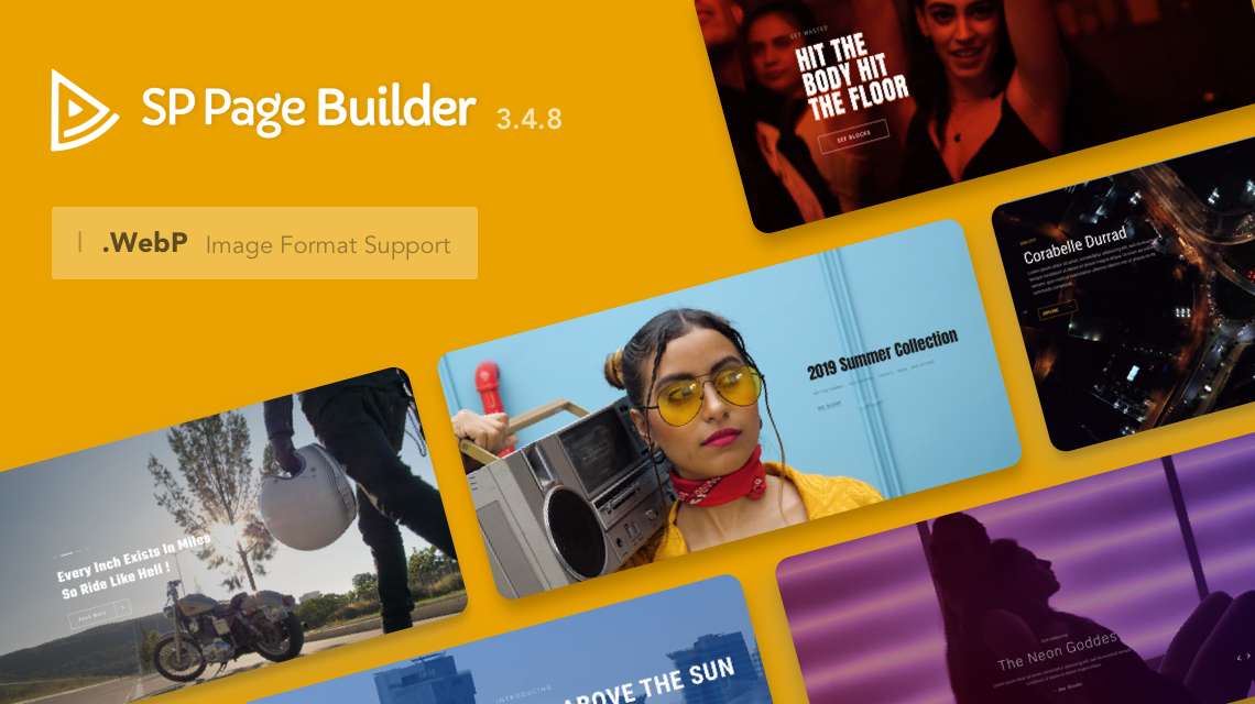 SP Page Builder Gets WebP Support, Slideshow Video Background, 10 Blocks & More in v3.4.8 Pro