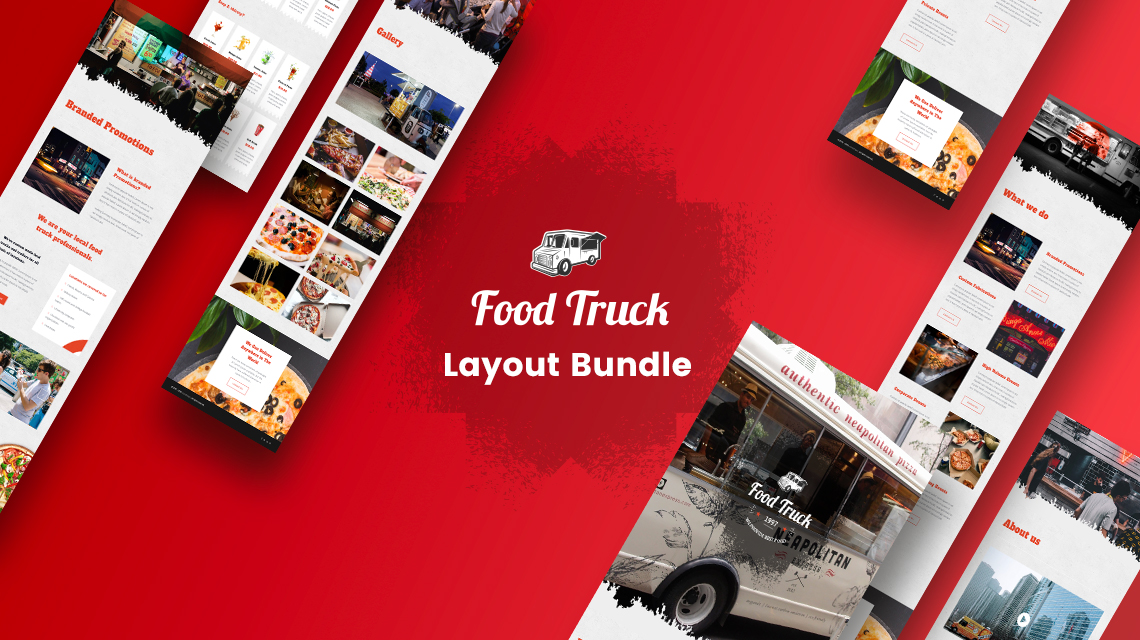 Get Food Truck: FREE Layout Bundle for SP Page Builder Pro
