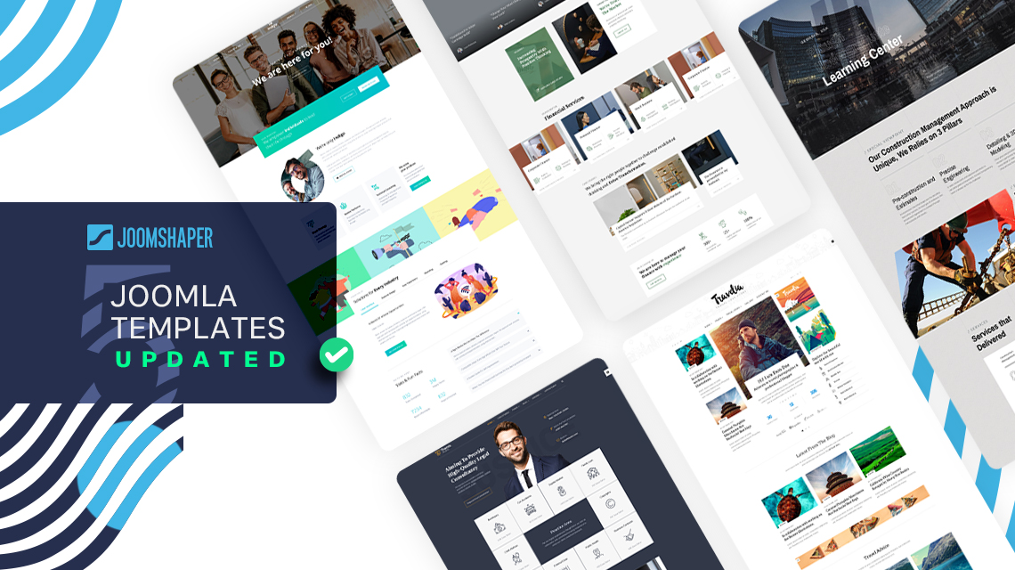 5 Joomla Templates Updated with Newest Components and Improvements