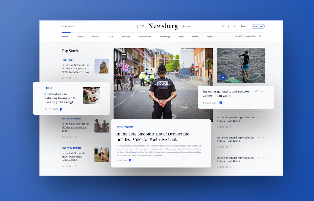 Introducing Newsberg: The Ultimate News and Magazine Template on Joomla