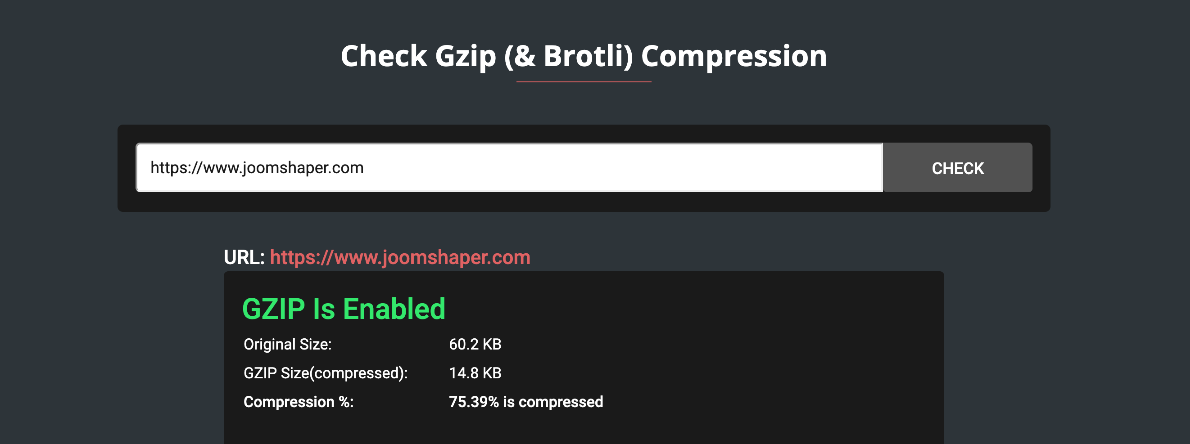 Why and How to use Gzip compression on Joomla