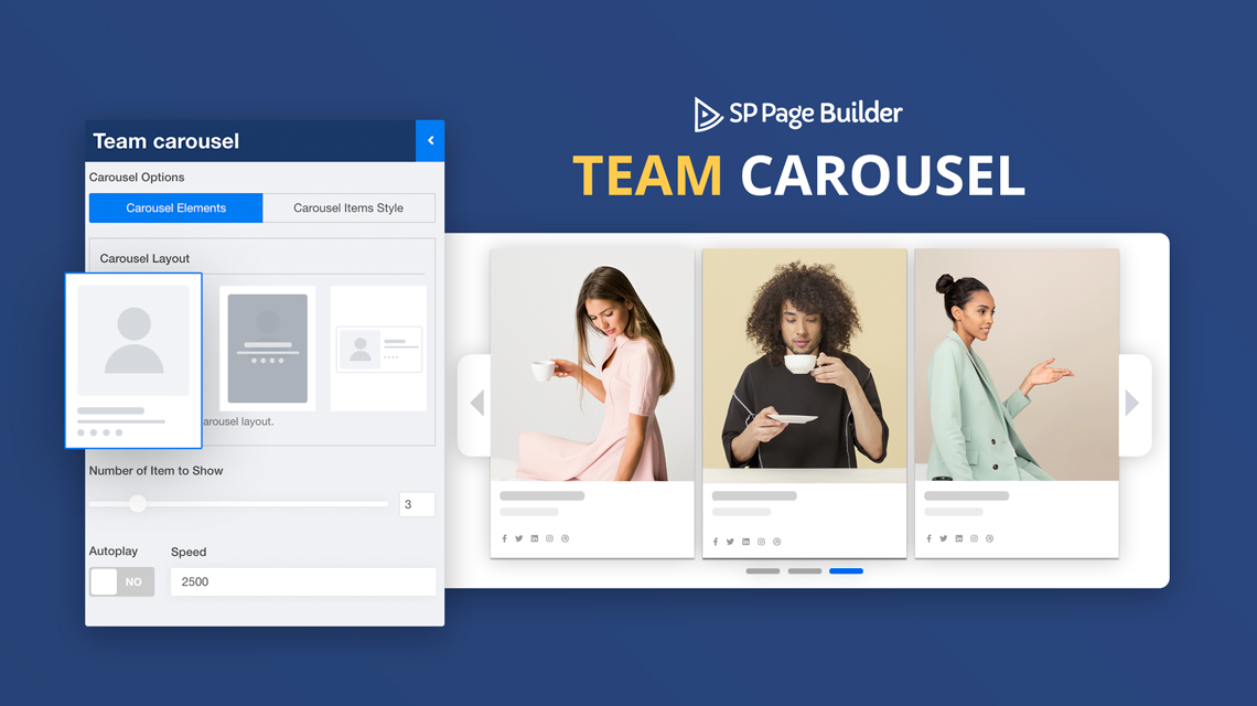 Presenting Team Carousel Addon in SP Page Builder Pro Along with Improvements and Fixes
