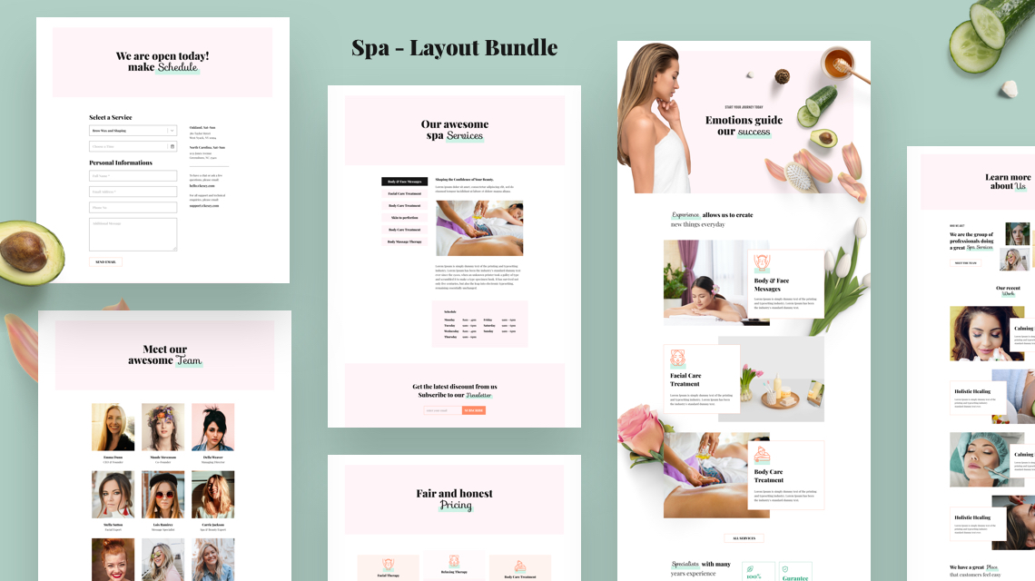 Introducing Spa: A FREE Beauty Salon & Wellness Center Layout Bundle for SP Page Builder Pro