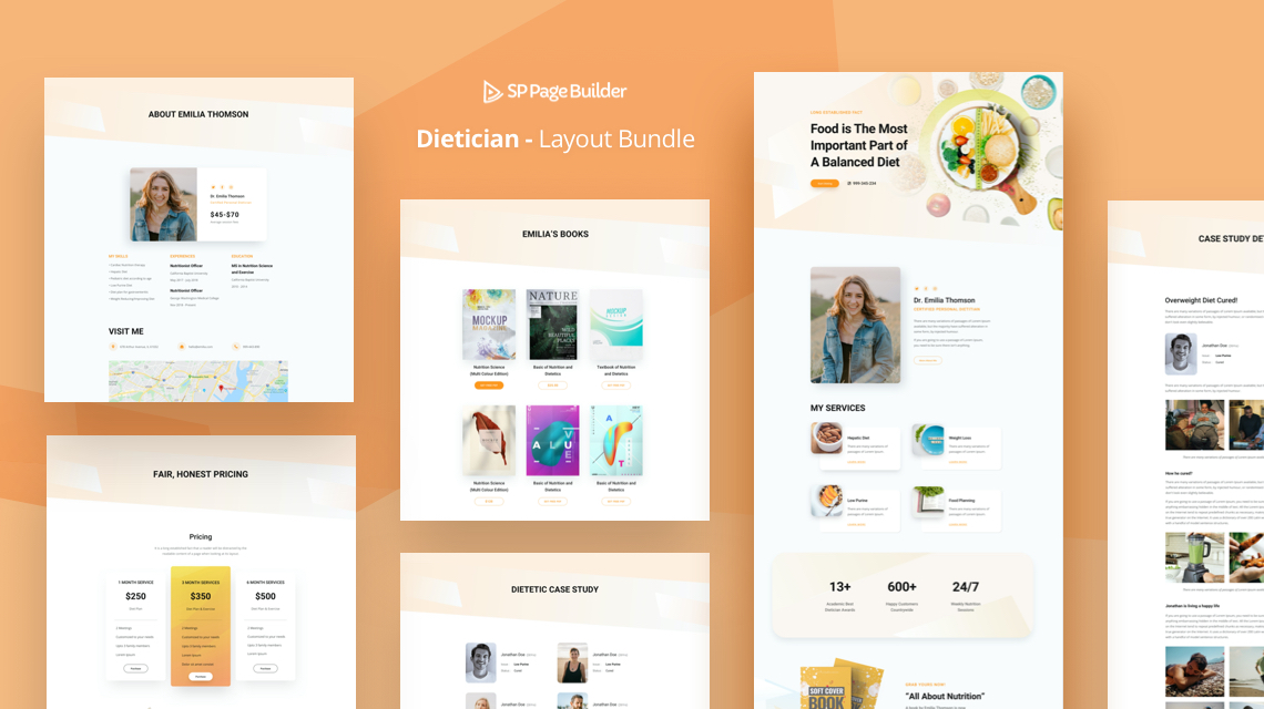 Introducing Dietician: FREE Nutritionist Layout Bundle for SP Page Builder Pro