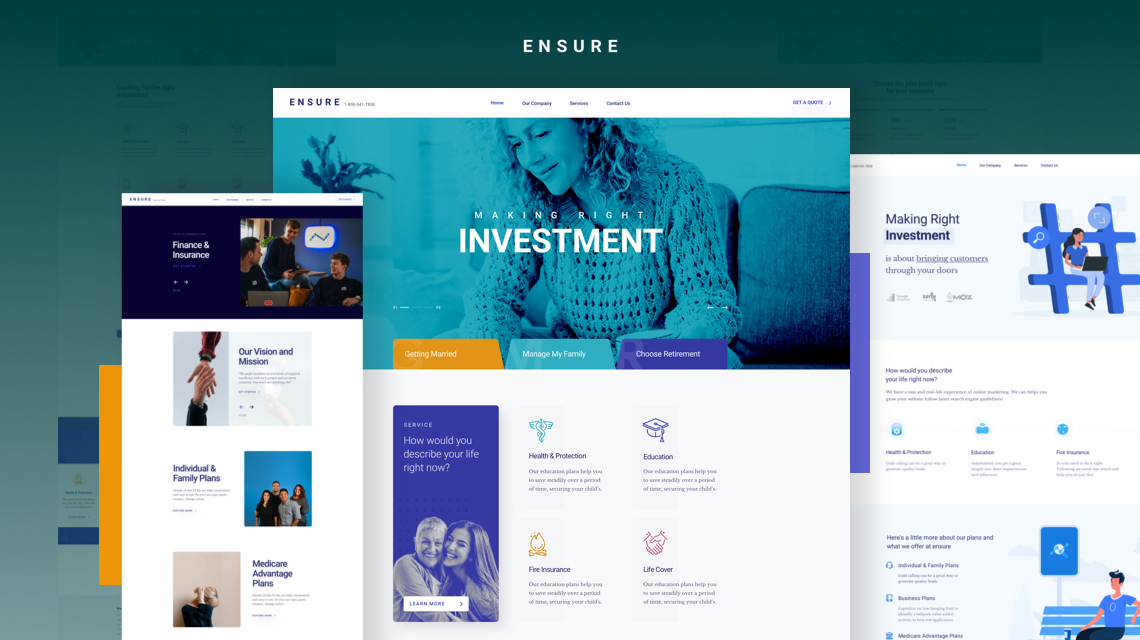 Introducing Ensure: A Business, Finance, Insurance Joomla Template
