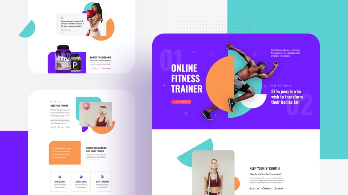 Fitness Website with Joomla