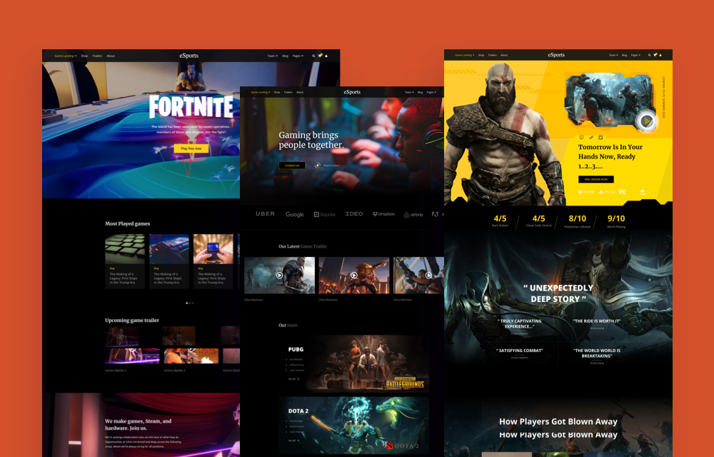 Introducing eSports: A Full-fledged Joomla Template for Professional Gaming Websites
