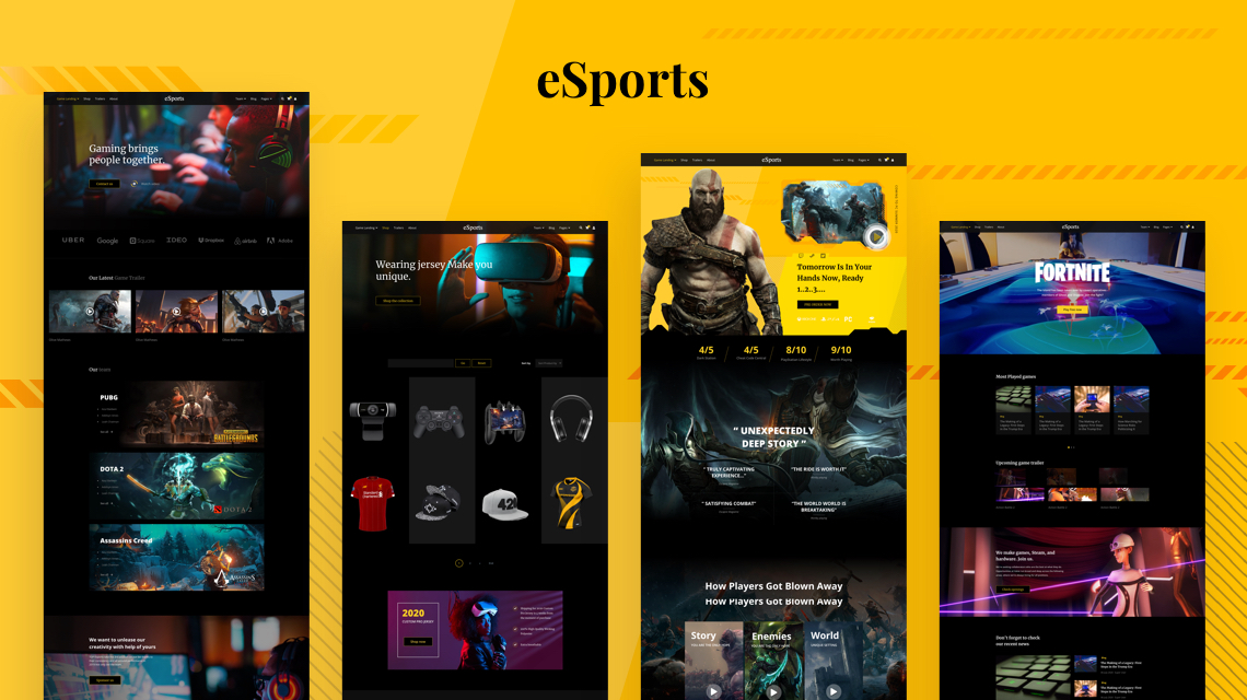 Introducing eSports: Awe-striking Joomla Template for Professional Gaming Websites