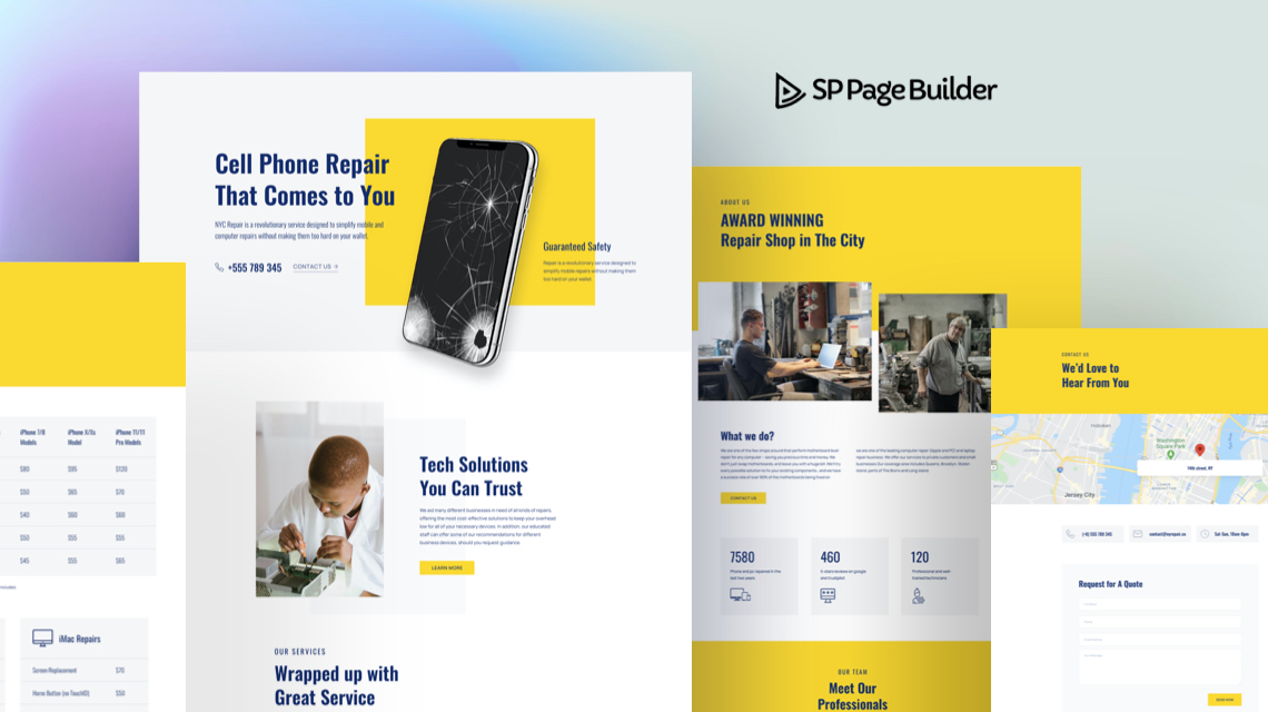 Introducing Gadget Repair - A Free Layout Bundle for SP Page Builder Pro