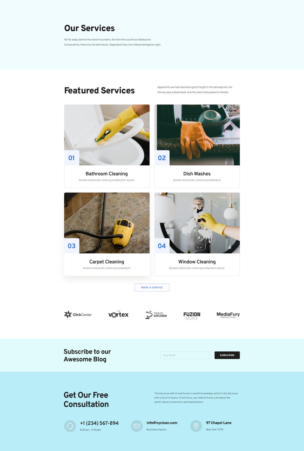 Cleaning Service Layout Bundle